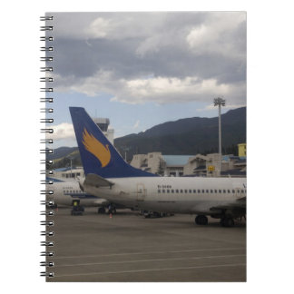Domestic Chinese jet airliners lined up at Spiral Notebook