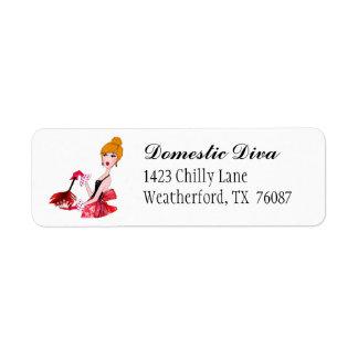 """Domestic Diva"" Address Labels"