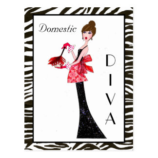 """Domestic Divas"" Postcards"