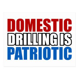 Domestic Drilling is Patriotic Postcard