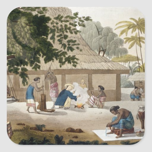 Domestic life in Kupang, Timor, plate 10 from 'Le Square Sticker