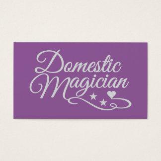 Domestic Magician custom business cards