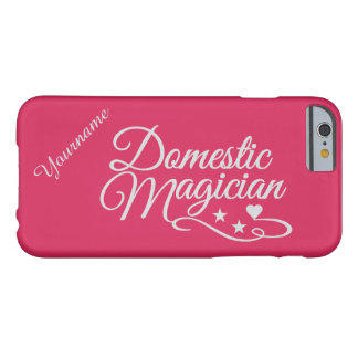 Domestic Magician custom color & text cases Barely There iPhone 6 Case