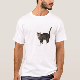 Domestic male tabby cat standing T-Shirt