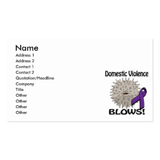 Domestic Violence Blows Awareness Design Pack Of Standard Business Cards