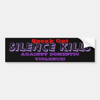 DOMESTIC VIOLENCE Bumper Sticker Car Bumper Sticker