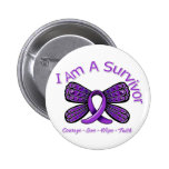 Domestic Violence Butterfly I Am A Survivor 6 Cm Round Badge