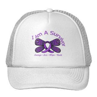 Domestic Violence Butterfly I Am A Survivor Hats