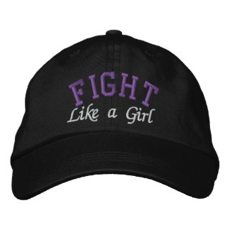 Domestic Violence - Fight Like a Girl Embroidered Baseball Cap