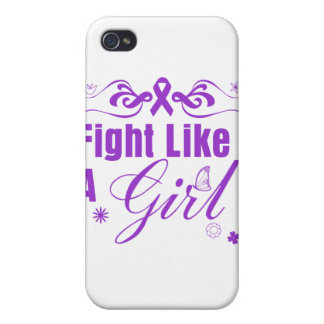 Domestic Violence Fight Like A Girl Ornate iPhone 4/4S Cases