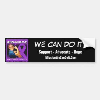 Domestic Violence Mission We Can Do It Bumper Sticker