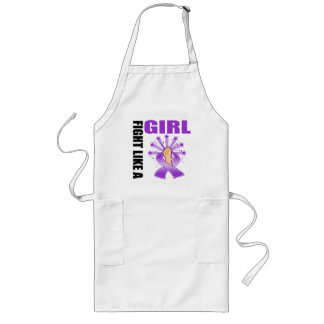 Domestic Violence Victory Fight Like A Girl Long Apron