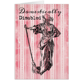 Domestically Disabled Cards