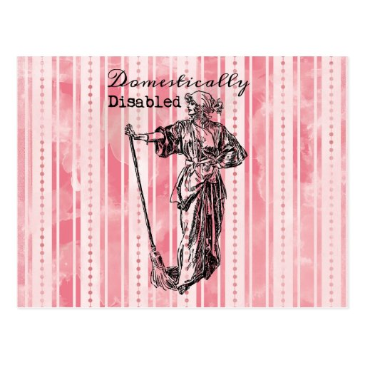 Domestically Disabled Post Card