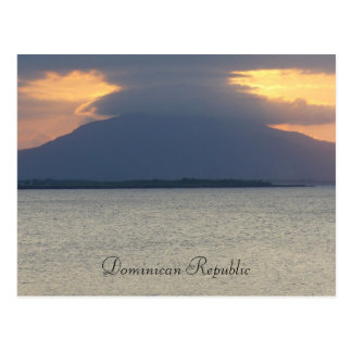 Domican Republic Sunset Postcard