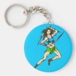 Dominant Amazon Women Key Chain