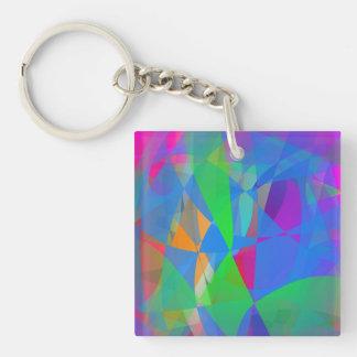 Dominant Blue Single-Sided Square Acrylic Key Ring