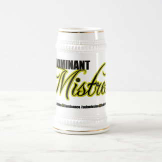 Dominant Mistress with BDSM Acronym Beer Steins