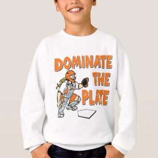 Dominate the Plate, orange Sweatshirt
