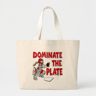 Dominate the Plate, red Tote Bags