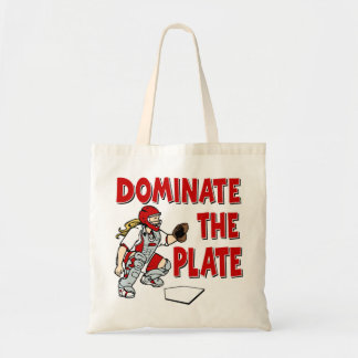 DOMINATE THE PLATE BUDGET TOTE BAG