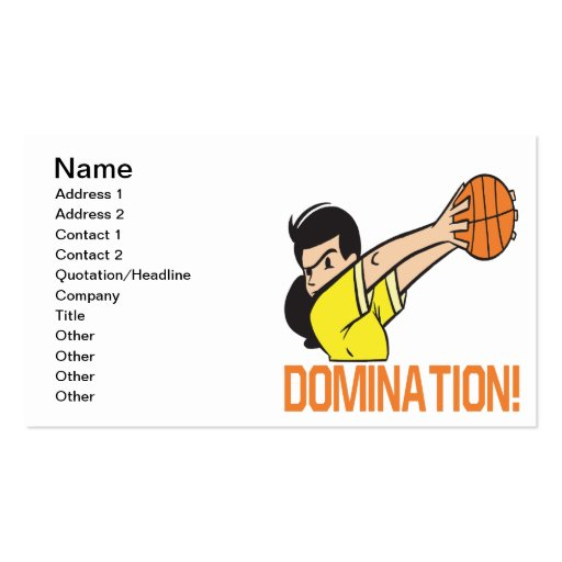 Domination Business Card Templates