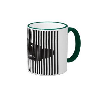 Dominatrix Silhouette Ringer Mug