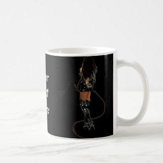 Dominatrix with Whips Basic White Mug