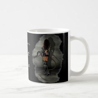 Dominatrix with Whips (Gray) Basic White Mug
