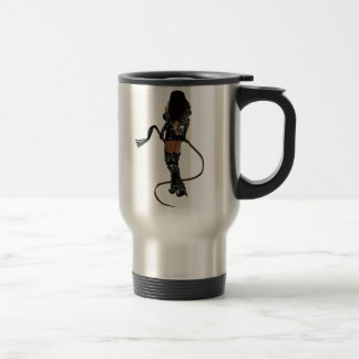 Dominatrix with Whips Stainless Steel Travel Mug