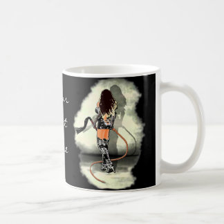 Dominatrix with Whips (White) Basic White Mug