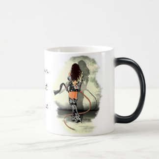 Dominatrix with Whips (White) Morphing Mug