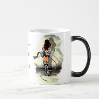 Dominatrix with Whips (White) Morphing Mug