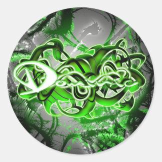 Dominic Round Sticker