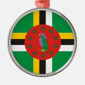 dominica country flag nation symbol christmas ornament