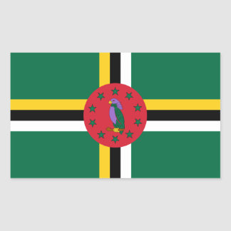 Dominica/Dominican Flag Rectangular Sticker