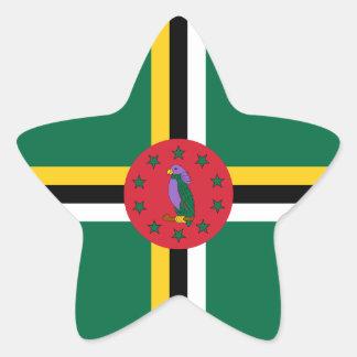 Dominica/Dominican Flag Star Sticker