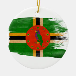 Dominica Flag Christmas Ornament
