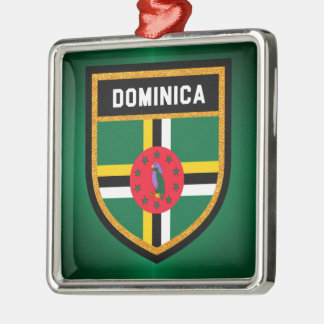 Dominica Flag Christmas Ornament