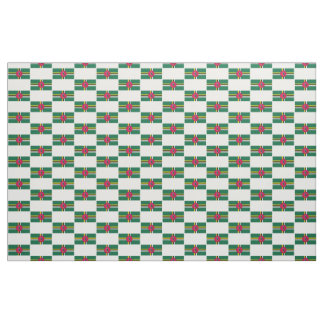 Dominica flag fabric