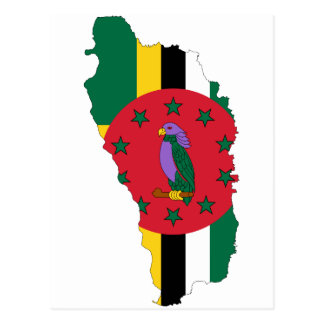 Dominica Flag map DM Postcard