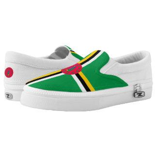 Dominica Flag Slip On Shoes