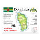 Dominica Map Postcard