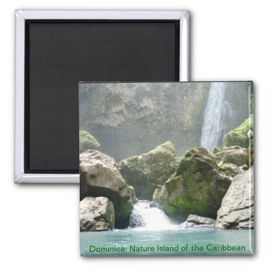 Dominica waterfall magnet