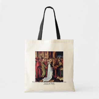 Dominican Altar Left Lower Inner Wing Panel Canvas Bag