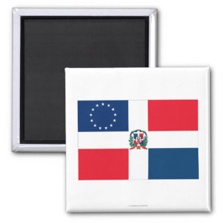 Dominican-American Flag Magnet
