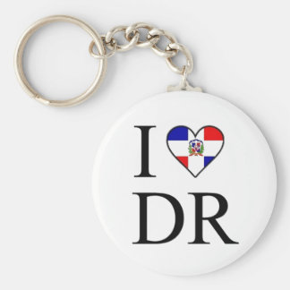 DOMINICAN BASIC ROUND BUTTON KEY RING