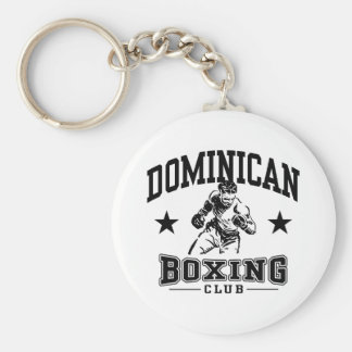 Dominican Boxing Basic Round Button Key Ring