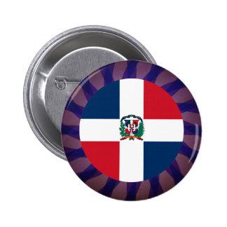 Dominican Flag Souvenir 6 Cm Round Badge