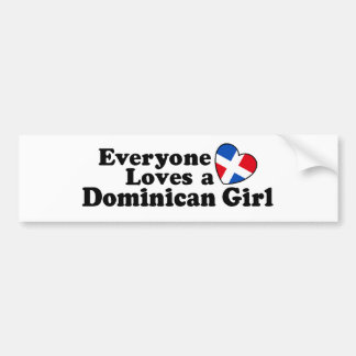 Dominican Girl Bumper Sticker